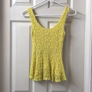{Urban Outfitters} Flower Lace Tank   S